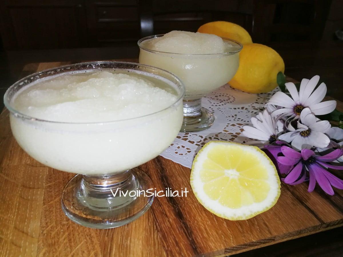 granita al limone facile