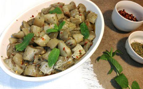 melanzane in insalata alla siciliana